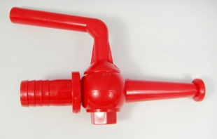 20mm plastic fire hose reel nozzle with shut off valve