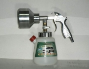 Rotating wind foam washing gun