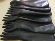 industrial plane Sandblasting gloves/ industrial Sandblasting gloves with particles